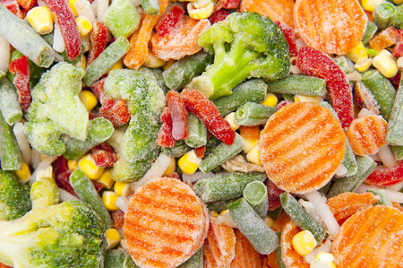 cold food: frozen vegetables Stock Photo