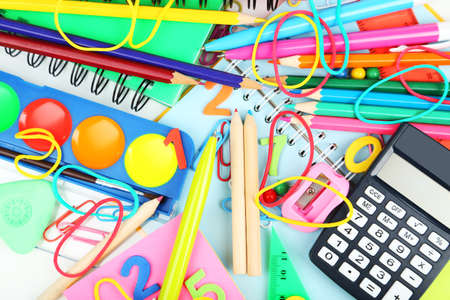 Full background of school supplies Stock Photo - 31929934