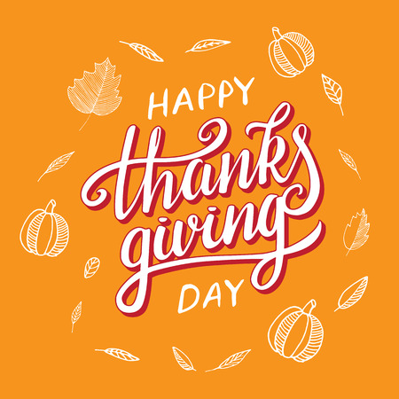 Vector Thanksgiving Day Greeting Lettering Phrase. Happy Thanksgiving..  Royalty Free Cliparts, Vectors, And Stock Illustration. Image 90334361.