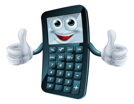 An illustration of a happy cartoon calculator man giving a thumbs up Stock Vector - 22096318
