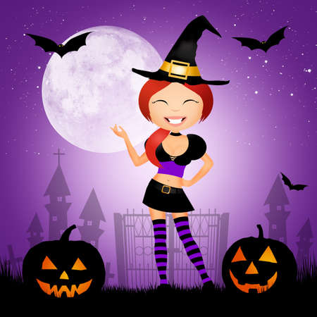 Halloween postcard Stock Photo - 42849261