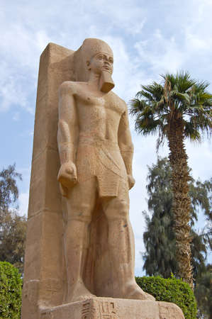 Standing statue of Ramses II in Memphis, Egypt Stock Photo - 12006937