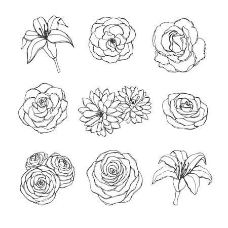 Simple Flower Outline Stock Vector Illustration And Royalty Free Simple Flower Outline Clipart