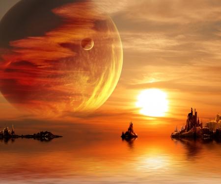 planet: Landscape in fantasy planet