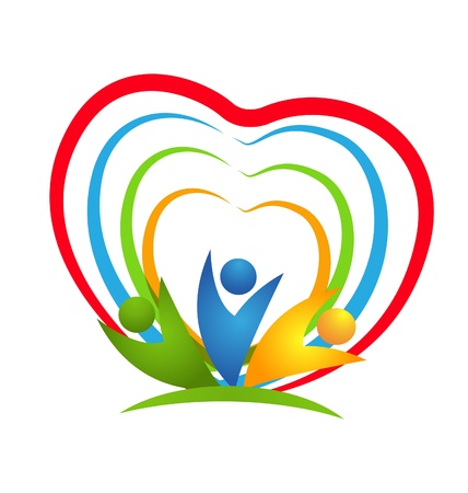 People heart connections icon vector Stock Vector - 21756354