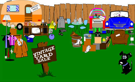 spectacular vintage yard sale  Stock Vector - 20011295