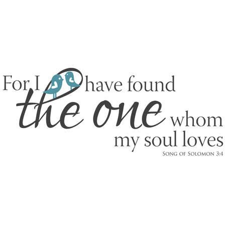 Song of Solomon 3:4 Stock Vector - 41260624