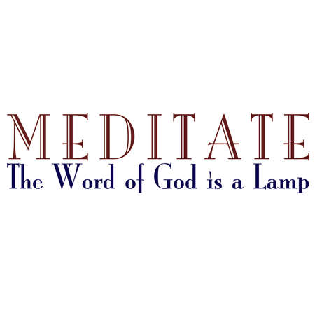 Meditate On Gods Word Inspirational Typography