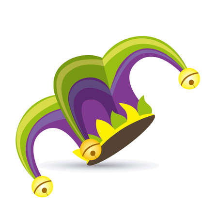 jester: Illustration of a jester hat. April Fools Day. vector illustration