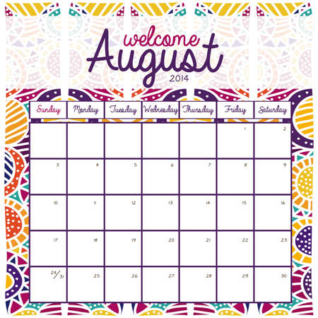 calendar design over pattern background vector illustration Stock Vector - 23167708