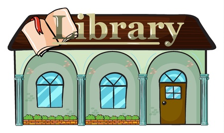 illustration of a library on a white background Stock Vector - 16734152