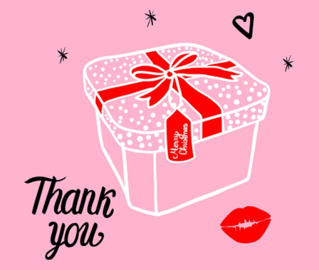 Fashion White Illustration Of A Gift Box With A Red Bow In The Frame Merry
