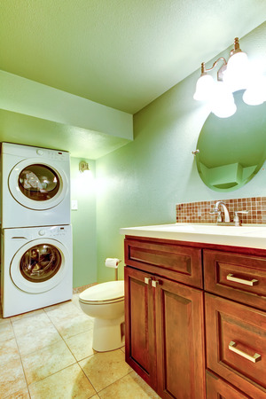 beige meuble vasque en bois salle
