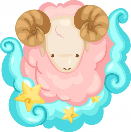 Zodiac signs - Aries Illustration Stock Photo - 15657320