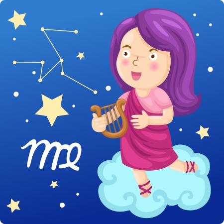 Zodiac signs -Virgo Illustration Stock Photo - 17849522