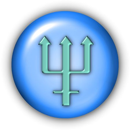 Planet Glyphs Button - Neptune Stock Photo - 350563