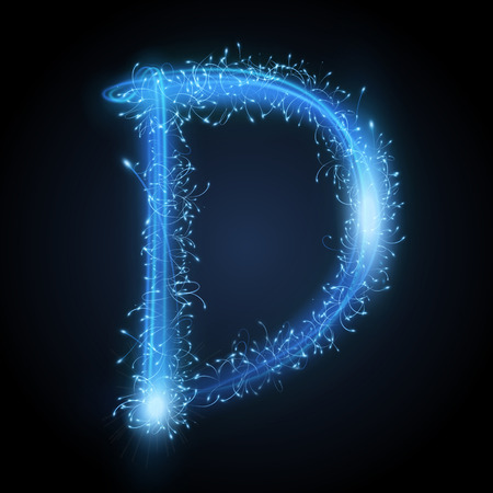 Letter D Stock Photos  Royalty Free Letter D Images 3d blue sparkler firework letter D isolated on black background