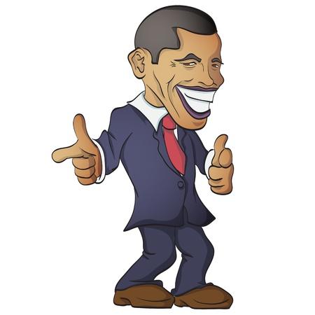 obama: Vector illustration of Barack Obama  Editorial