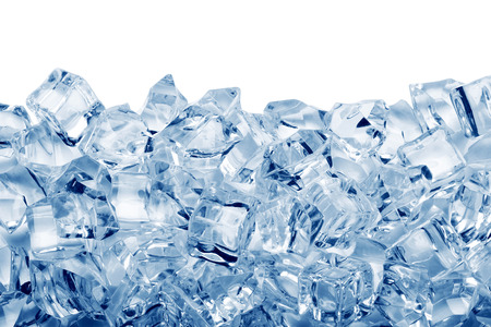 cold food: Ice cubes isolated on white background