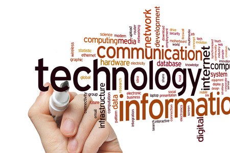 science and tech: Information technology concept word cloud background