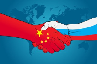 Image result for china flag with russian flag