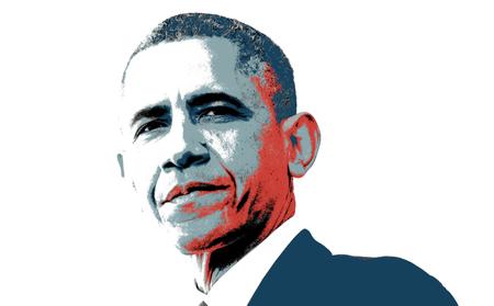 obama: Barack Obama Colored Artistic