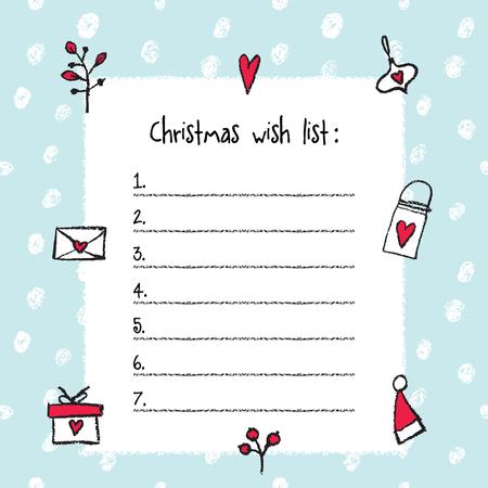 Doc410610 Christmas Wish List Templates Doc410610 Christmas – Christmas List Templates