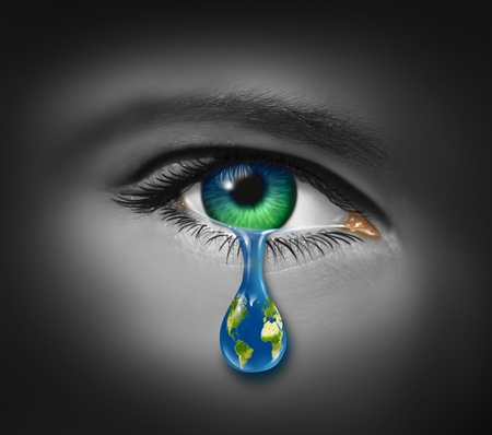 war: War and violence with the tear of a child and a planet earth in the reflection of the tear drop as a symbol of pain and world conflict on victims of crime or sadness on the state of the natural environment and polution.