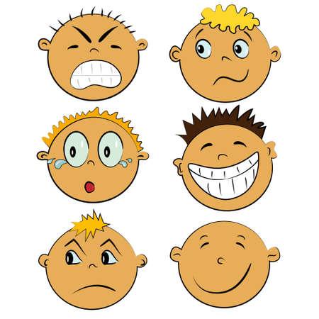 children faces set. people imotions collection Stock Vector - 13110733