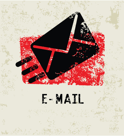 email symbol: E-mail grunge symbol,clean Illustration