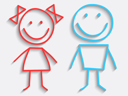 children: Vector Boy and Girl Icons