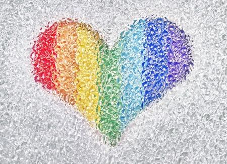 photo de coeur arc-en-dans les cristaux Banque d'images - 12766758