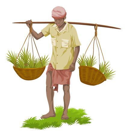 Indian Farmer Stock Vector Illustration And Royalty Free Indian Farmer Clipart
