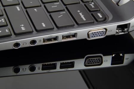 laptop input and output port