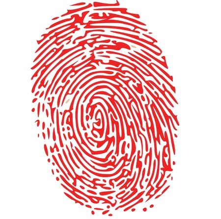 thumbprint: red thumbprint