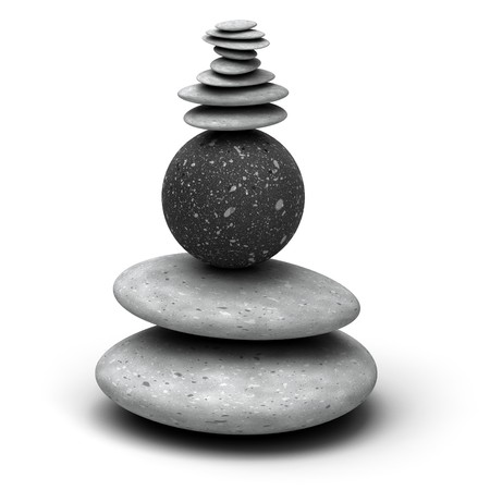 pebbles stack over a white background Stock Photo - 7716368