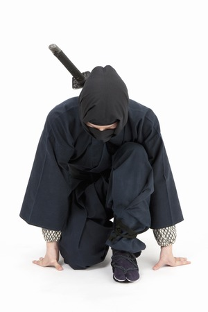 ninja cartoon: Ninja Stock Photo