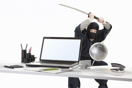 ninja computer: Ninja Stock Photo