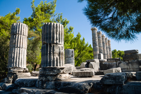 Ancient ruins Temple of Athena Stock Photo - 40330649