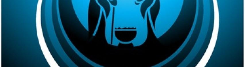 Icon depicting the nativity scene in blue Stock Vector - 10626718