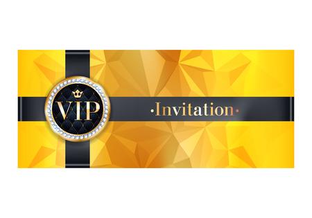 vip premium parti affiche de carte d