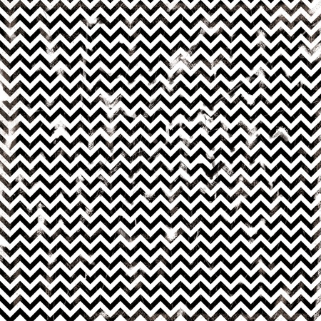 chevron monochrome black and white damaged fabric seamless pattern 12x12 inch Stock Photo - 21494464