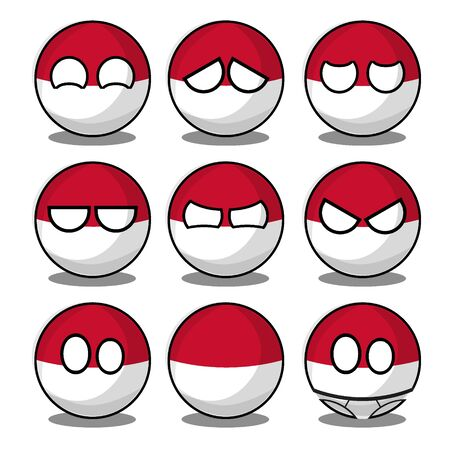 Countryballs Indonesia Is Reverse Poland Worldball