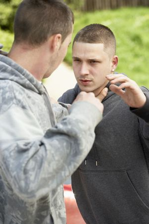 Two Young Men Fighting Stock Photo - 5516378