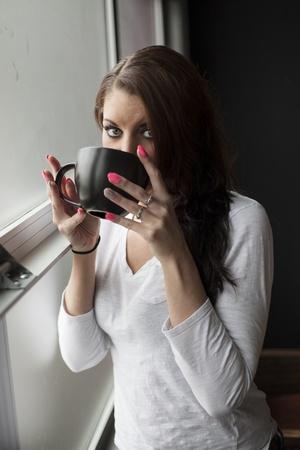 Madchen Braune Haare Blaue Augen Selfie Drawing Apem