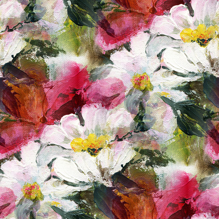 Blumen Acrylmalerei Maria Klein