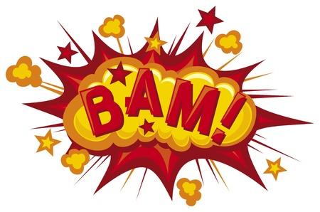 cartoon - bam (Comic bam explosion) Stock Photo - 19317079