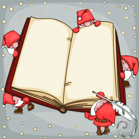 Christmas  book with Santa Claus. Place for text. Stock Vector - 23860527