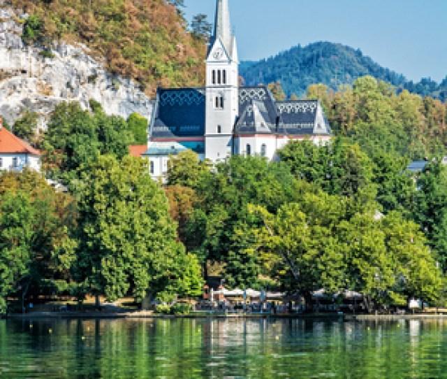 Lake Bled With St Martins Parish Church Slovenia Europe Travel Destination