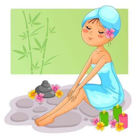 spa girl Stock Vector - 16656943